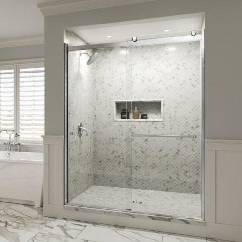 Rotolo Semi-Frameless 1/4-inch Glass Sliding Shower Door