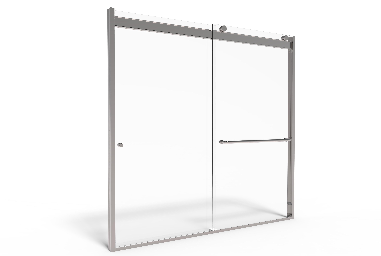 Rotolo Semi Frameless 1 4 Inch Glass Sliding Basco Shower