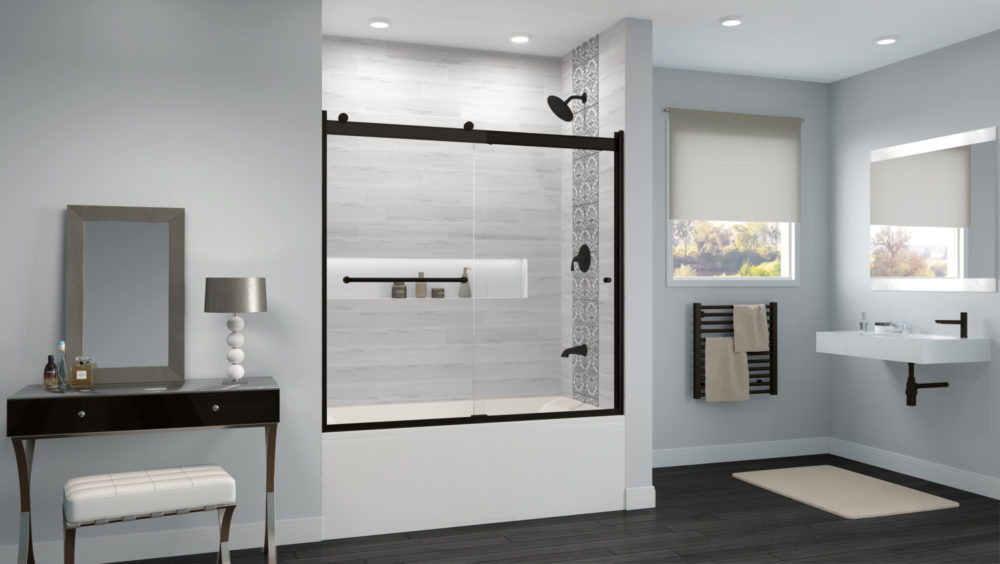 Rotolo Bypass Sliding Bathtub Doors