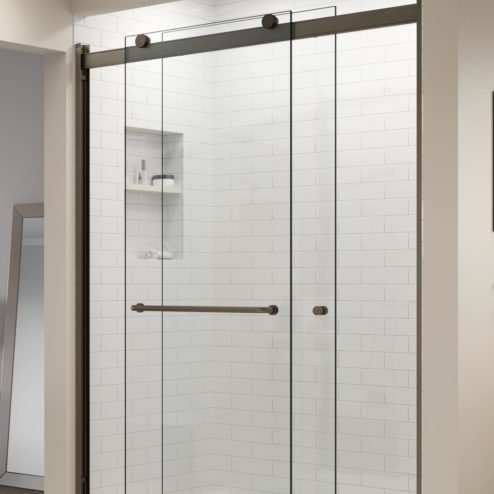 Rotolo Semi-Frameless 3/8-inch Glass Sliding Shower Door