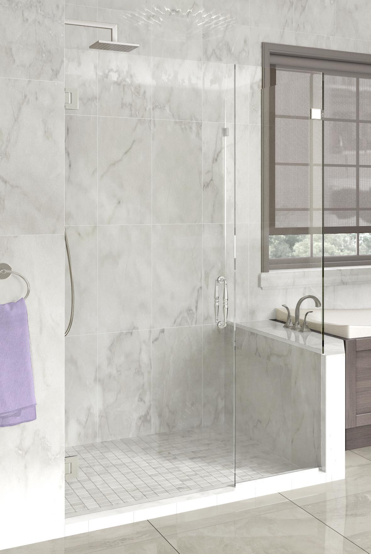 Tresor Frameless 3 8 Inch Glass Swing Door Basco Shower Doors