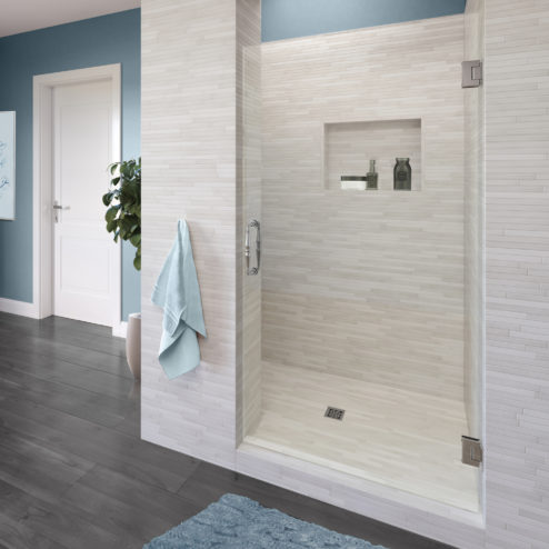Tresor Frameless 3/8-inch Glass Swing Shower Door
