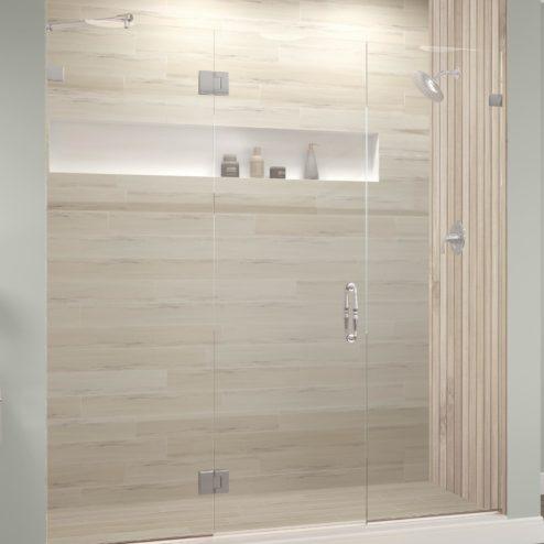 Tresor Frameless 3/8-inch Glass Panel Swing Door Panel Shower Door