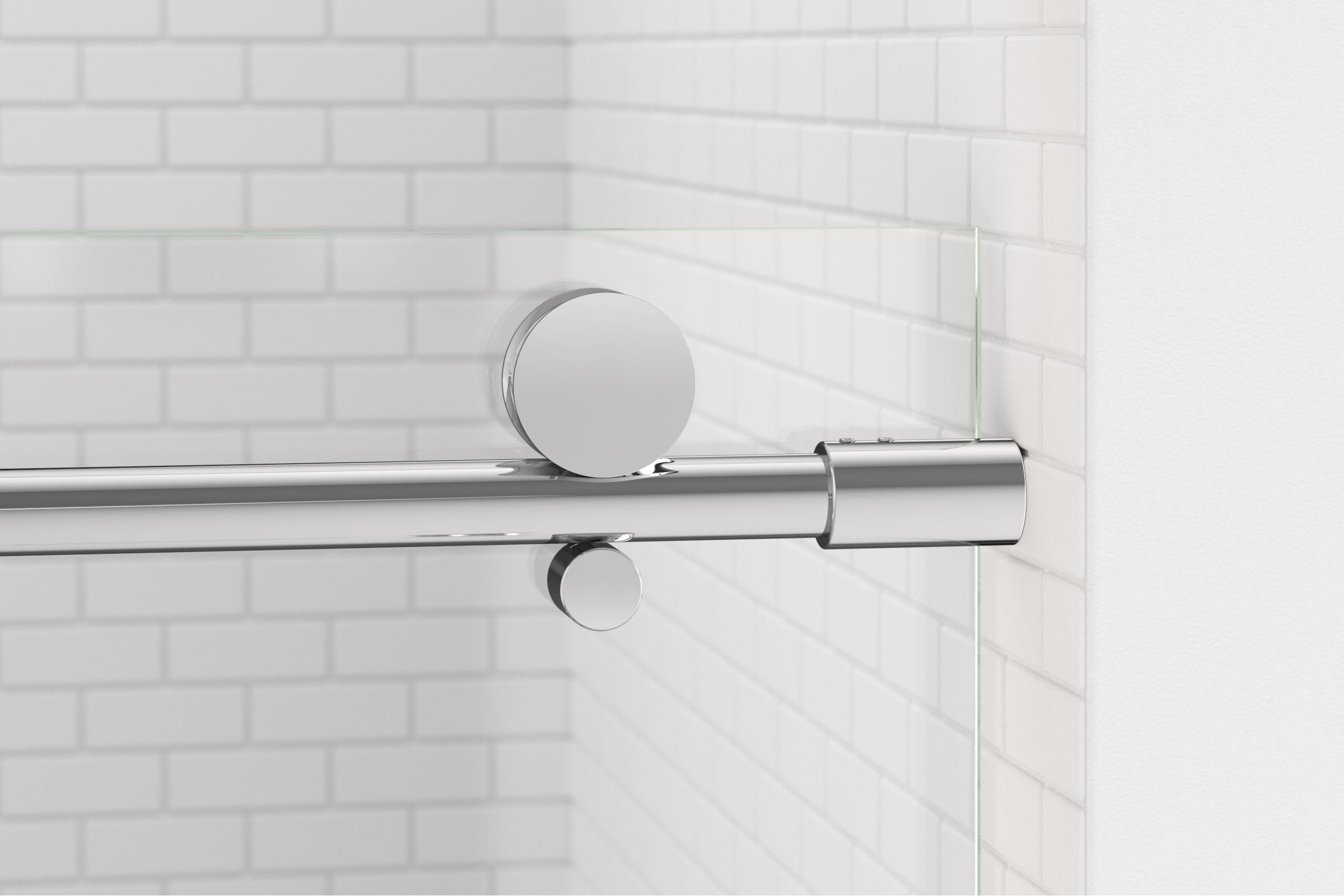 Vinesse Lux Frameless 3 8 Inch Glass Rolling Door Basco