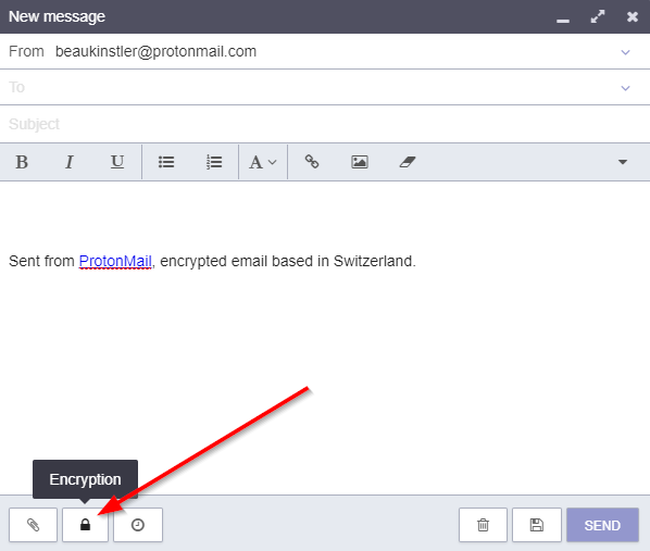 add encryption to email