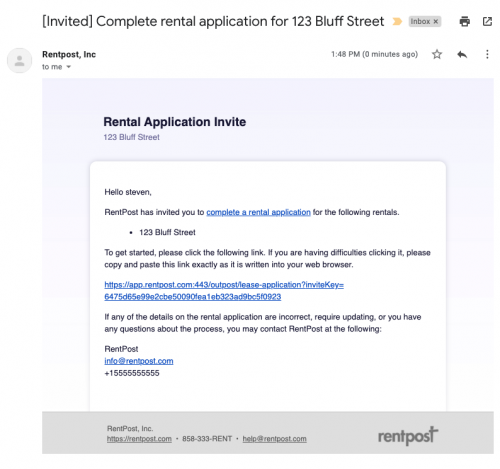 Rental-Application-Invite-Email