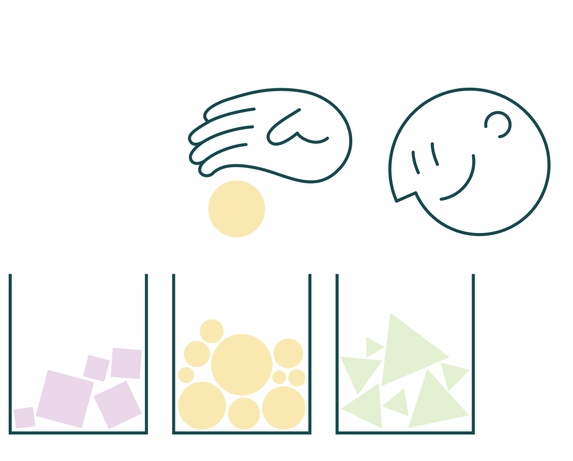 Illustration of objects being sorted into different groups