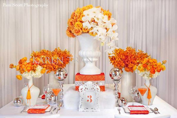 Affordable With Orange Wedding Flowers Ideas