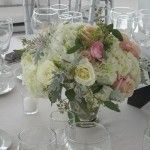 blush low centerpiece