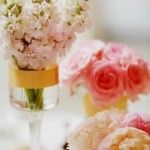Pink Centerpieces close
