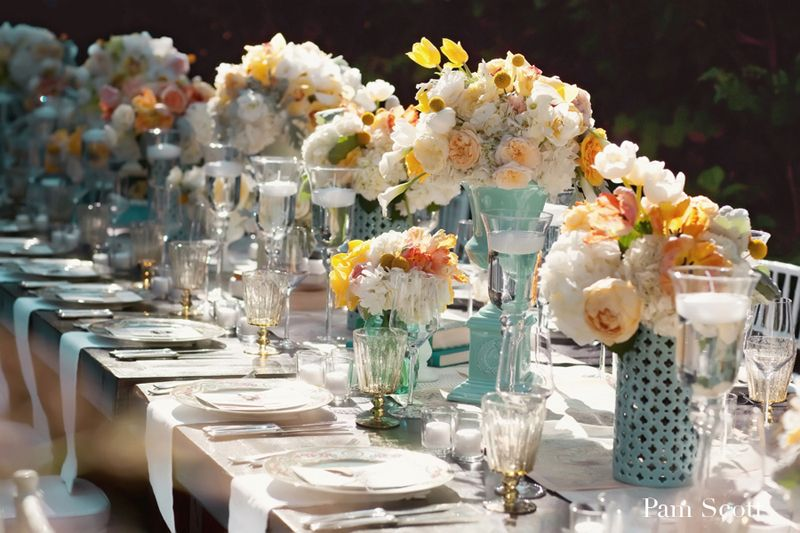 Table centerpieces for weddings party favors ideas for White wedding table decorations