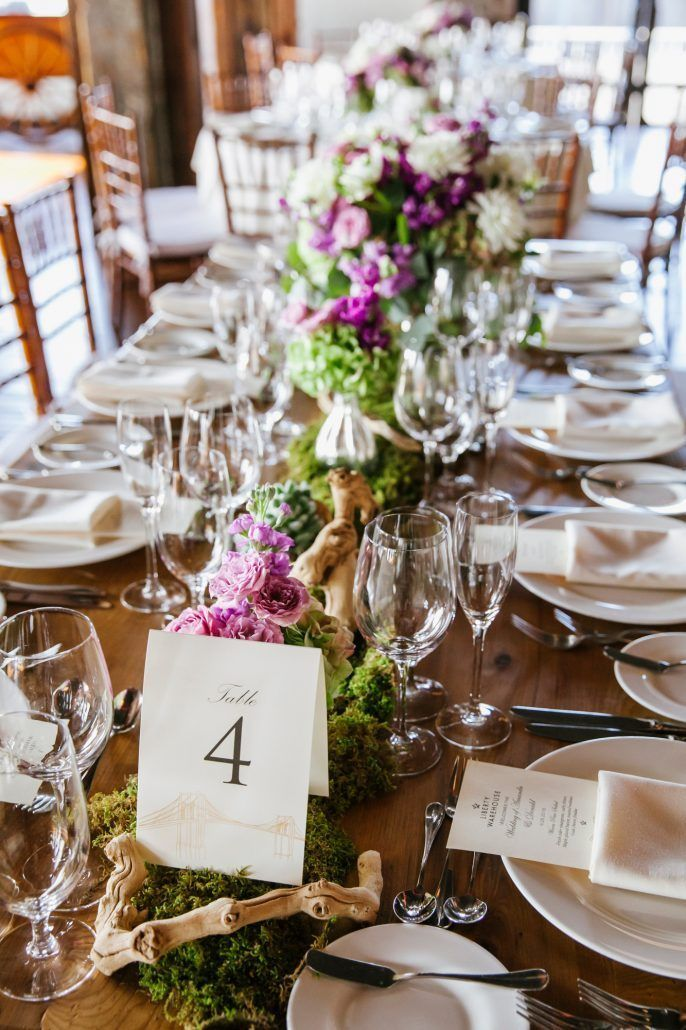 Amanda and Donald Wedding - Low Centerpiece - Liberty Warehouse - Krisanne Johnson