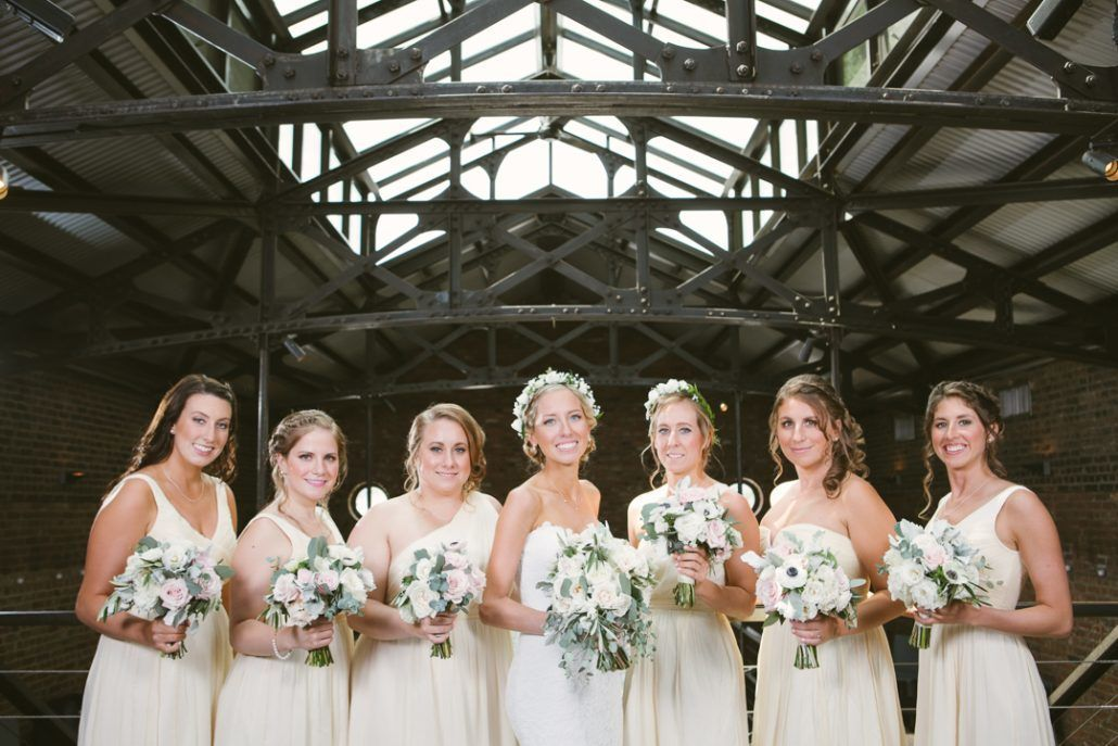 Christina & Derek Wedding - Bride and Bridesmaids - The Foundry LIC - Kevin Markland Photography