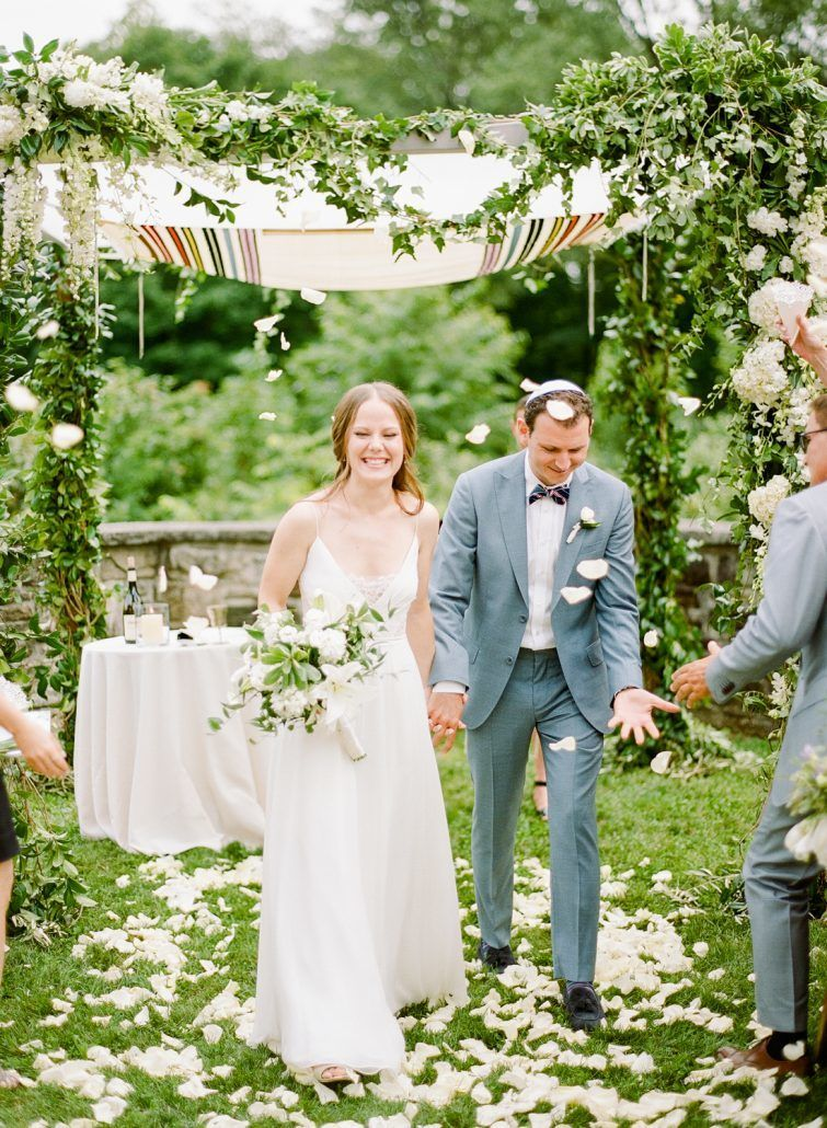 Emma & Izzet Wedding - Bride Groom Chuppah Bouquet - Blue Hill at Stone Barns - Rebecca Yale Photography
