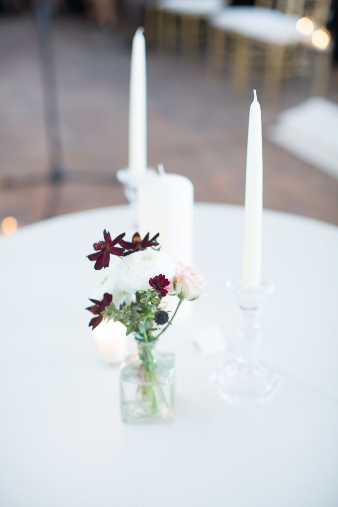 Jean & Bryan Wedding - Bud Vase Unity Candles - Bronx Post Office - Karen Wise Photography