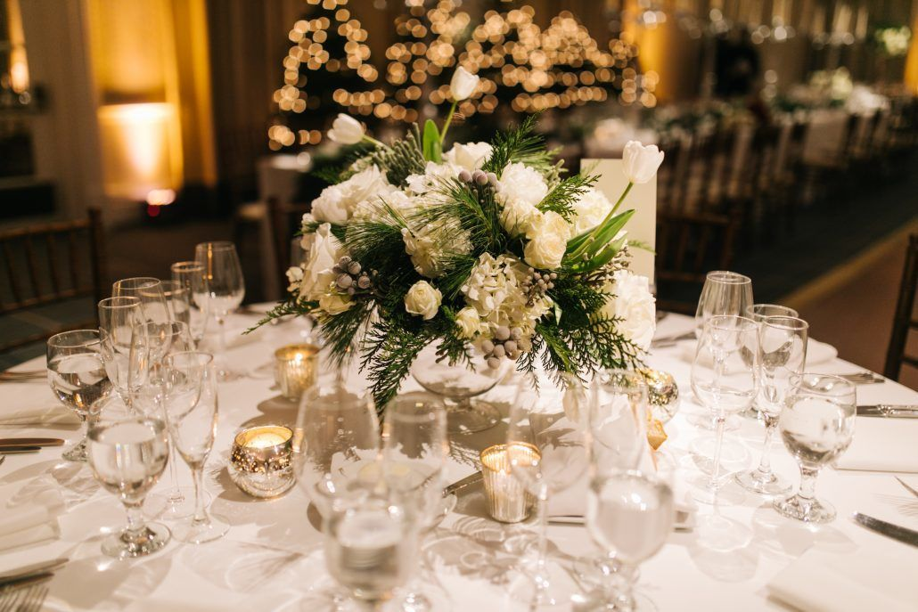 Lorenza & Pete Wedding - Low Centerpiece - New York Botanical Garden - by the Hons