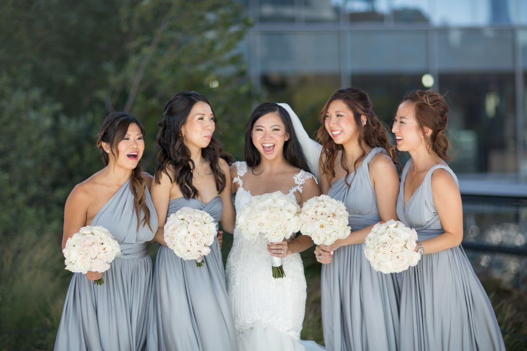 Sophia & Sam Wedding - Bride and Bridesmaids - Tribeca 360 - by Shira Weinberger