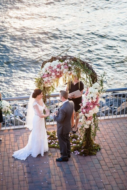 Sarah & Robert - Floral Arch - Liberty Warehouse - Photography by Kris Rae Photography