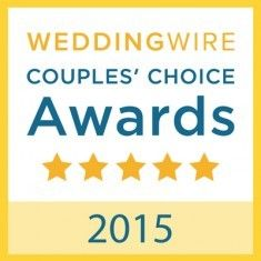 wedding wire 2015 couples' choice award badge