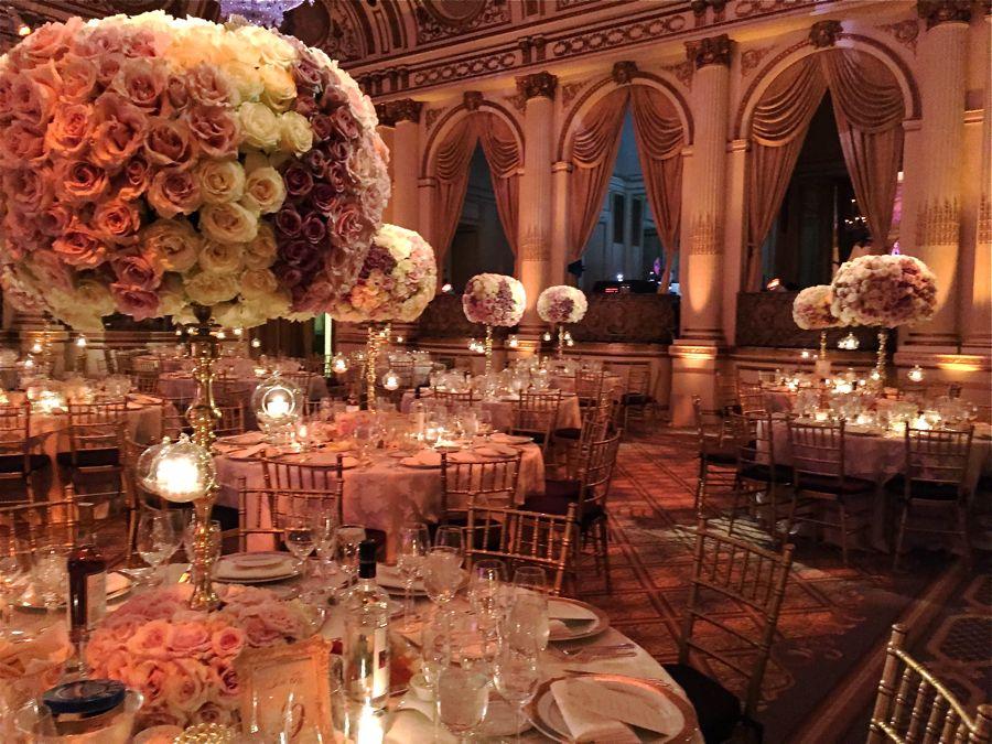 Plaza Hotel Wedding Centerpieces