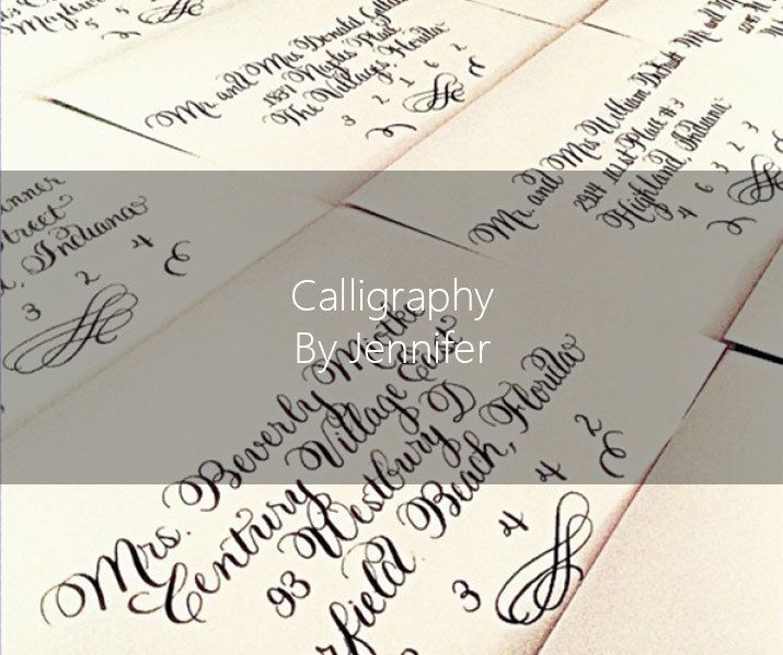 Calligraphy By Jennifer - Invitation