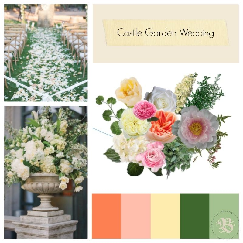 Mood Board Castle Garden Wedding By Bride Blossom Nyc S Only