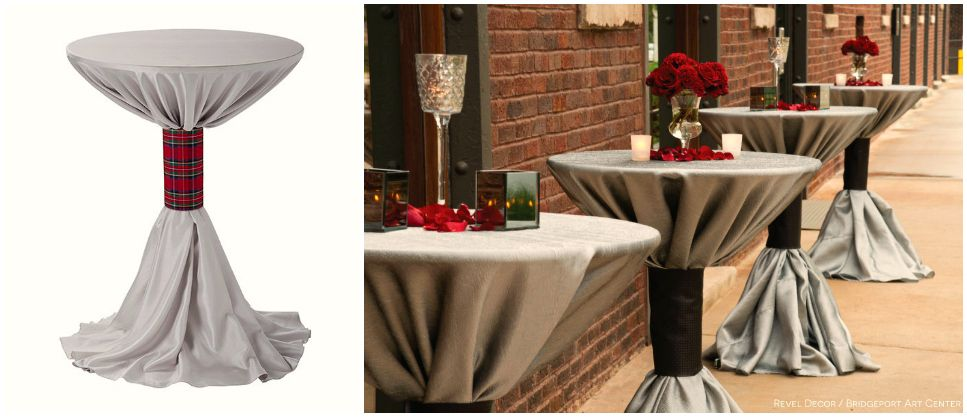 We Love Inspired Cocktail Table Linens  Cuffs By Bride - Cocktail table linens