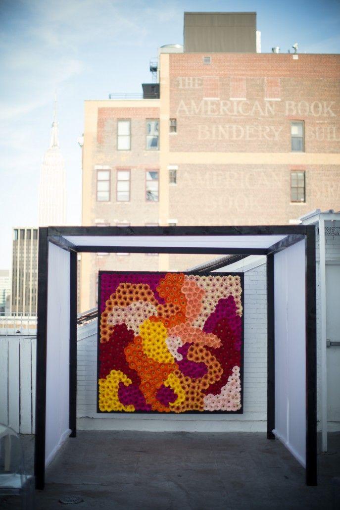 Brad & Manjil Wedding - Flower Wall - Studio 450 - Photography by Weddings by Two