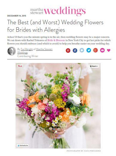 flowers for allergic bride martha stewart weddings