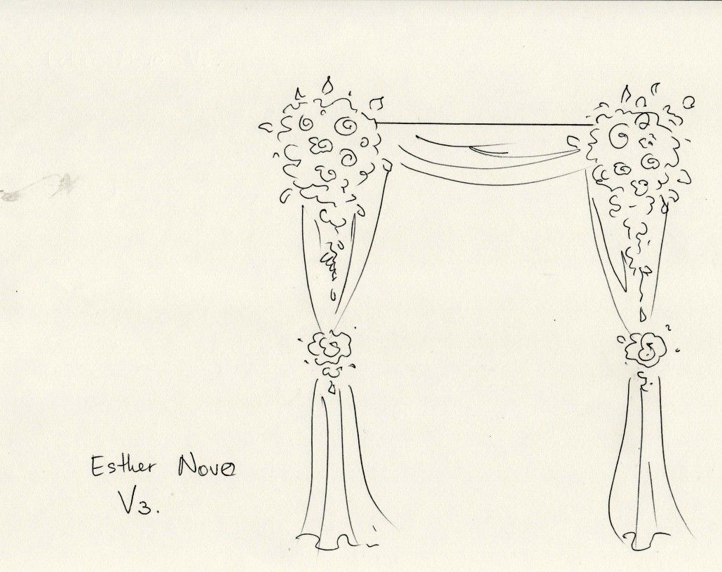 how to make a floral arrangement for an arch