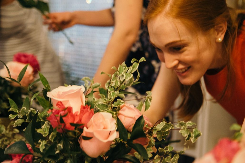 Action Shot Bachelorette Flower Class NYC