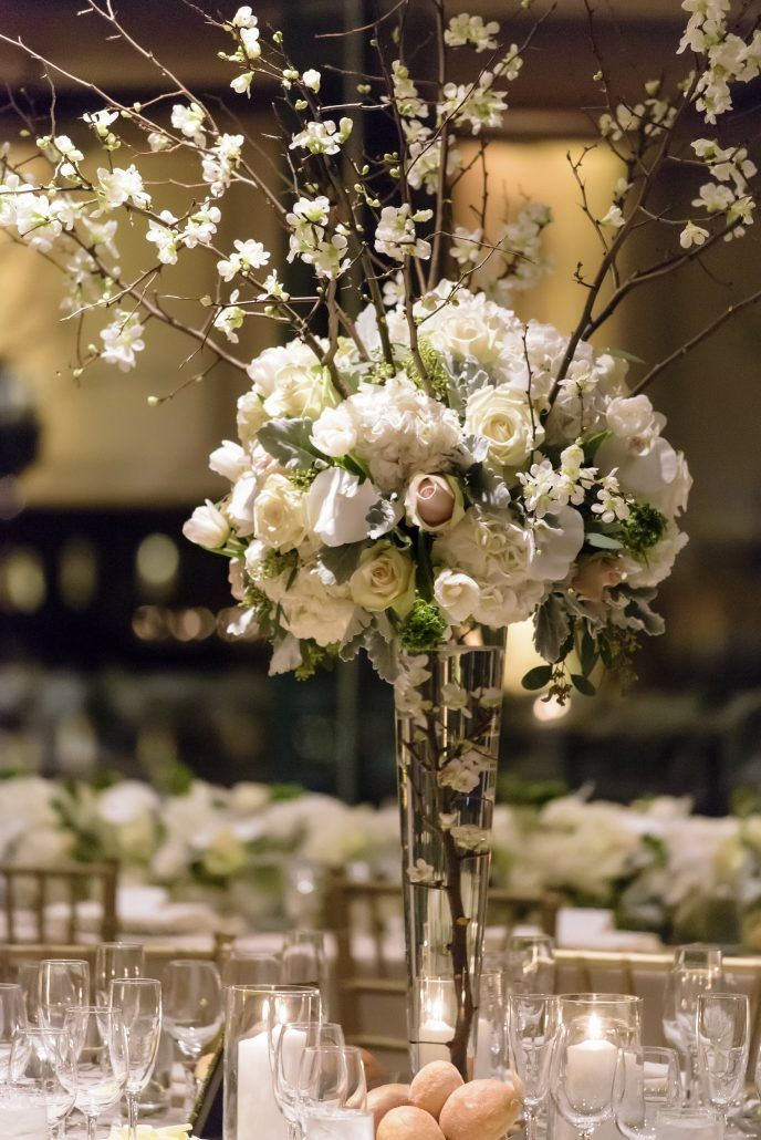High centerpieces wedding gallery and inspiration by for Tall wedding centerpieces with branches