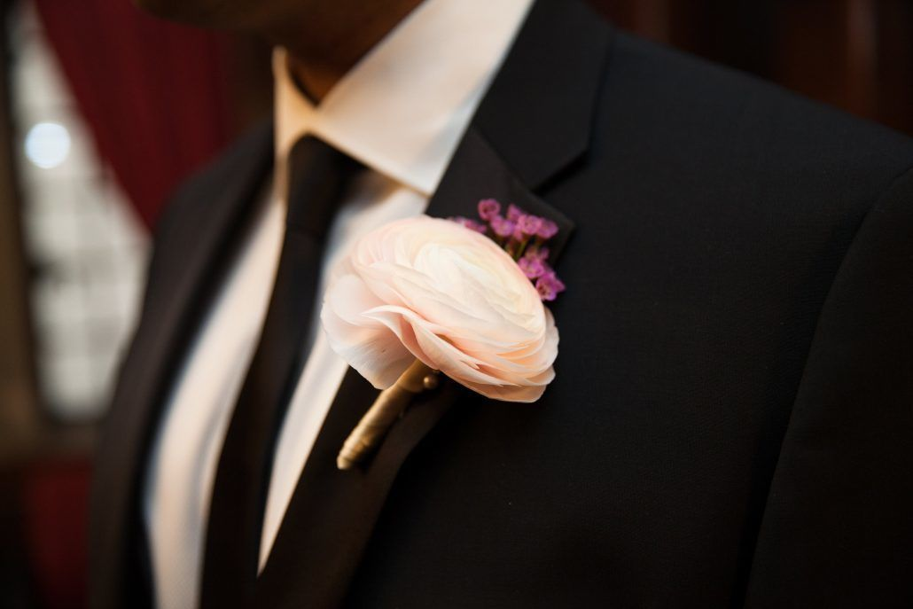 Amanda and Thomas - Groom - Boutonniere - JWM Essex House - Photo by Kelly Guenther