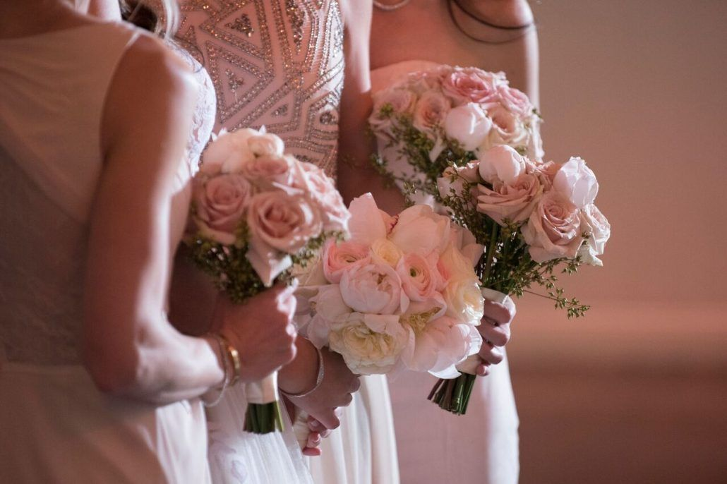 Bridesmaid Bouquets / Melanie and Graig / Tribeca Rooftop / Brett Matthews Photography