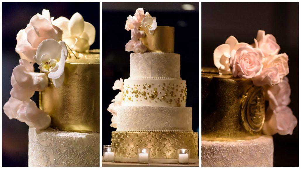 Wedding Cake Collage Joyce and Patrick Le Parker Meridien Susan Stripling