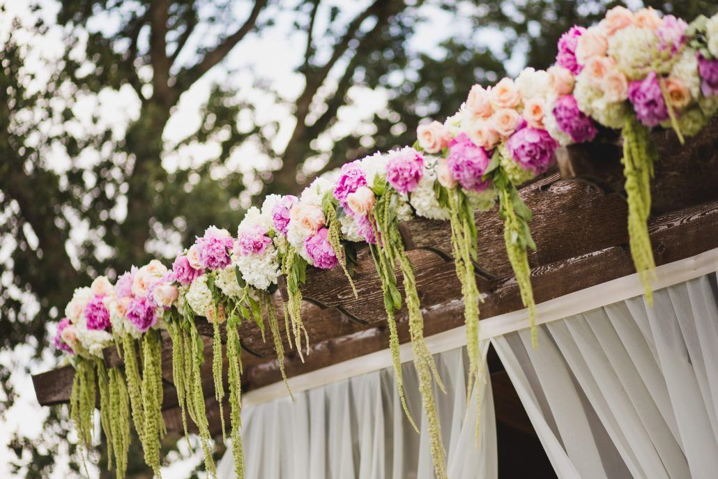 Gazebo Floral Detail / Marissa and Chris / Oak Tree Country Club /  Anna Lee Media