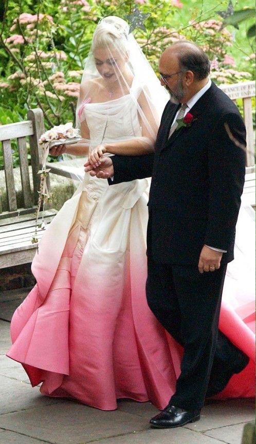 Gwen Stefani / Pink Wedding Dress / via lightinthebox.com