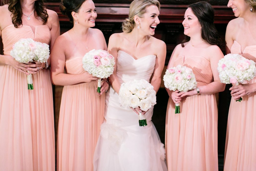 Pink Bridesmaids / Capitale NYC / Caroline Frost Photography