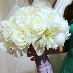 White and Ivory Classic Bridal Bouquet - ABC News Feature -- Hot New Wedding Trends