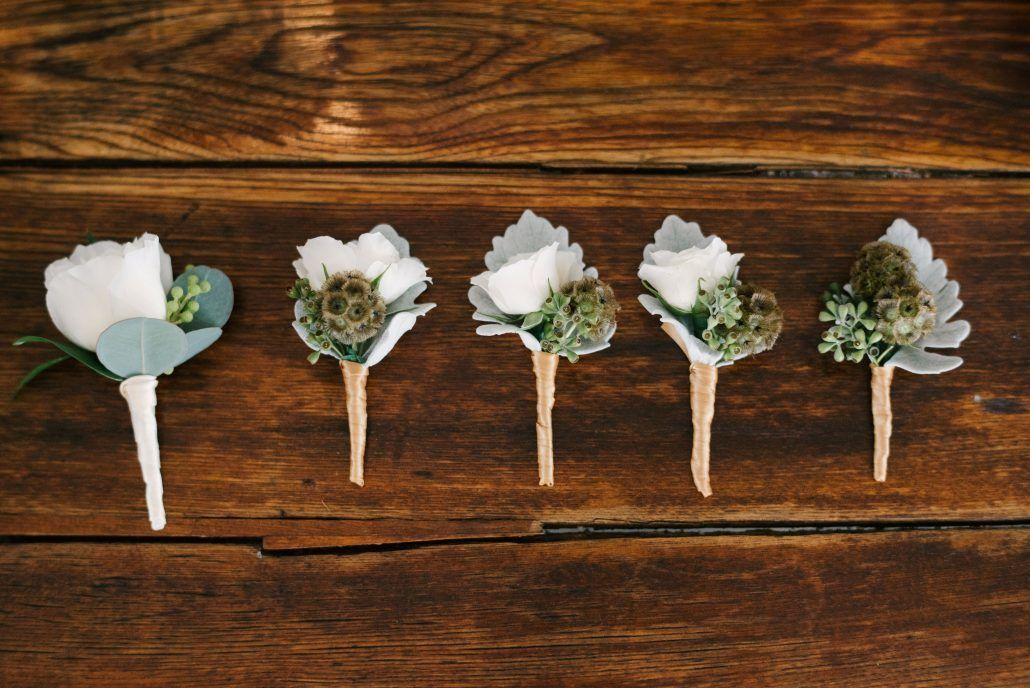 Danielle and Jared - Groom - Groomsmen - Boutonnieres - Ryland Inn - Paul Francis Photography
