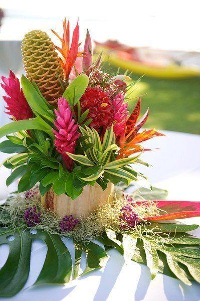 Tropical floral arrangements
