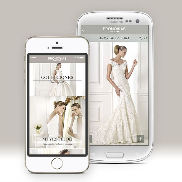 Pronovias App via pronovias.com