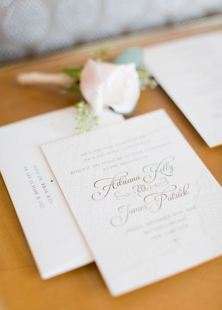 Adriana & James - Boutonniere - Wedding Invitations - Battery Gardens - Melissa Kruse Photography