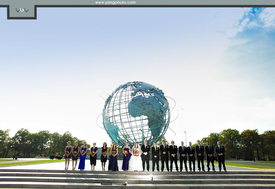 Unisphere / New York Hall of Science Wedding / Yun Gen Yang Photography