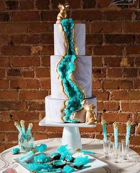 Geode Cake by Three Tiers for Cake