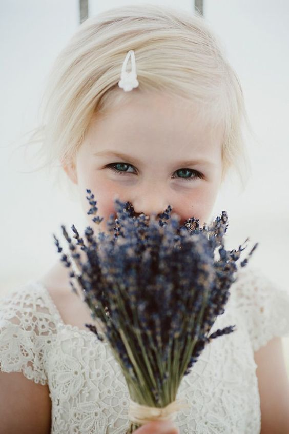 Flower Girl's Herbal Bouquet via Wedding Chicks / Keith Riley Photography
