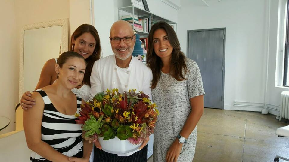 bride and blossom team visiting ron ben-israel's / RBI Cakes' NYC studio