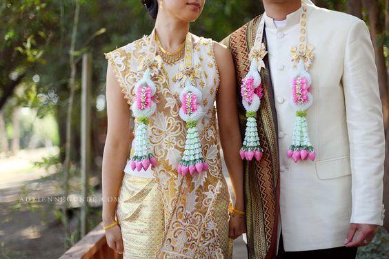Thai Floral Garlands via Thai Top Wedding