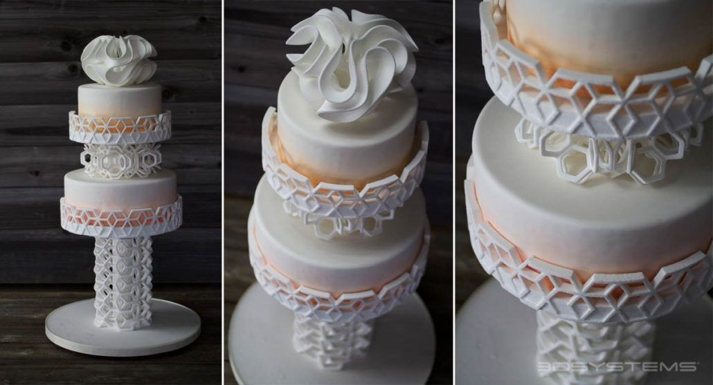 3D Printed Wedding Cake Decor via 3D Systems
