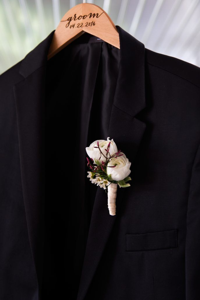 Suzy & Jerry - Groom - Boutonniere - Bourne Mansion - Ryon Lockhart Photography